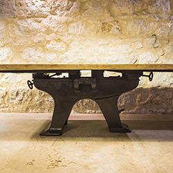Table industrielle fonte